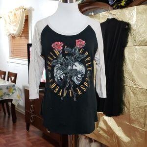 Ralph lauren tshirt size M skull with roses